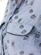 Chemise allaitement imprimée Emma poche