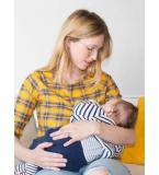 Haut d'allaitement à carreaux Amandine