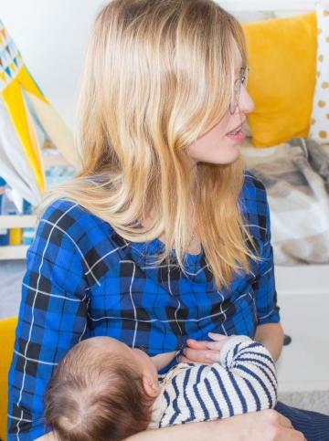 Haut d'allaitement bleu Amy allaitement
