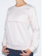 Sweat d'allaitement rose pale profil