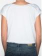 T-shirt réversible blanc dos col rond