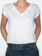 T-shirt réversible blanc face col V