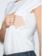 T-shirt réversible blanc fente col rond