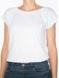 T-shirt réversible blanc face col rond