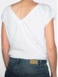 T-shirt réversible blanc dos col V