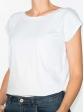 T-shirt réversible blanc profil gauche col rond