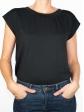 T-shirt réversible noir face col rond