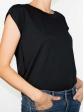 T-shirt réversible noir profil col rond