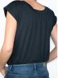 T-shirt réversible noir dos col rond