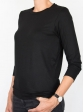 T-shirt d'allaitement noir manches trois-quart profil gauche
