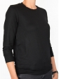 T-shirt d'allaitement noir manches trois-quart profil droit