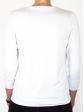T-shirt d'allaitement blanc manches trois-quart dos