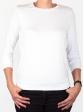 T-shirt d'allaitement blanc manches trois-quart face