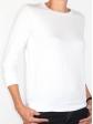 T-shirt d'allaitement blanc manches trois-quart profil droit