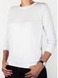 T-shirt d'allaitement blanc manches trois-quart profil gauche