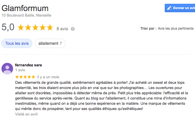 Avis google Glamformum