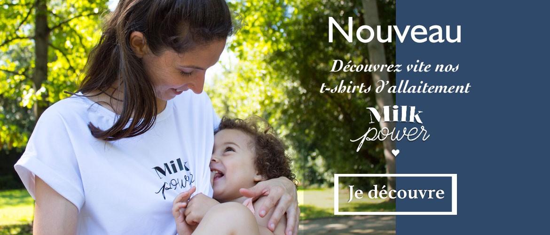T-shirt d'allaitement Milk Power